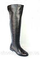 Ботфорты кожаные черного цвета