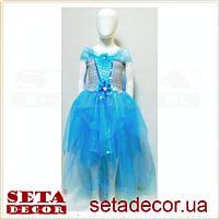 Платье Эльза Снежинка карнавальное, новогоднее