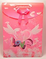 """Подарочная упаковка 26,5х19см """"Сердечко с крыльями"""""""
