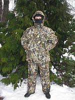 Зимний костюм для рыбалки и охоты расцветка Лес , утепленный