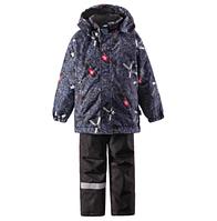 Комплект (куртка + штаны на подтяжках) для мальчика LASSIE 723695 тёмно-синий