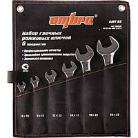 Набор рожковых ключей 8-27 мм, 6 предметов OMBRA OMT6S