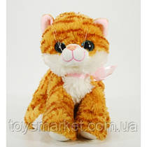 Детская мягкая игрушка,кот полосатик,рыжий