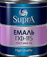"""Эмаль алкидная ПФ - 115 для дерева и металла (серая) ТМ """"Supra"""""""