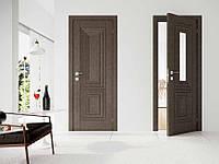 Двери межкомнатные с ПВХ покрытием Renolit Германия Paola со стеклом сатин