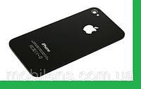 Apple iPhone 4, 4G Задняя крышка черная