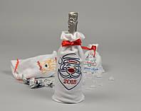 Новорічний мішечок для пляшки