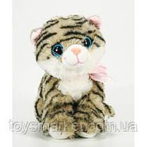 Детская мягкая игрушка,кот полосатик,серый