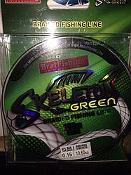 Шнур плетеный Skeleton green Bratfishing 100 м