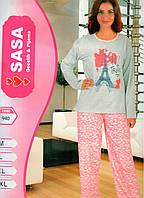 ONUR пижама женская с начесом на байке № 940
