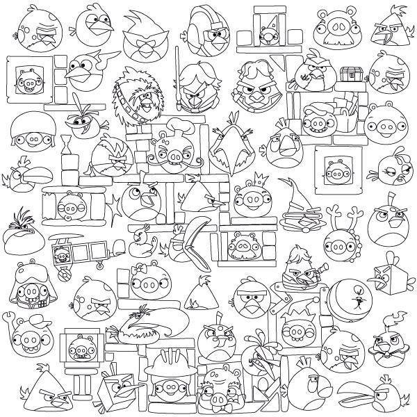 Обои-раскраски Angry Birds 60*60 C-60001