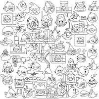 Обои-раскраски Angry Birds 60*60 C-60001, фото 1