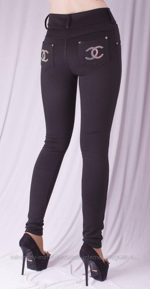 Леггинсы Шанель черные с 40 по 64 размер осень/зима
