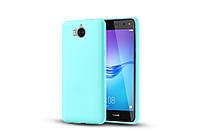 Чехол Huawei Y5 2017 силикон soft touch бампер голубой