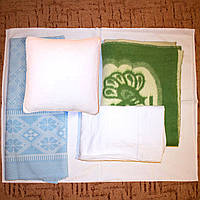 Комплект детского постельного белья с шерстяным одеялом, пуховой подушкой