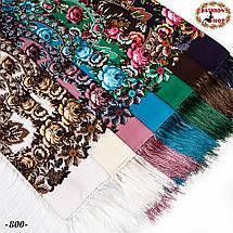 Розовый павлопосадский платок Непревзойдённая роспись, фото 3