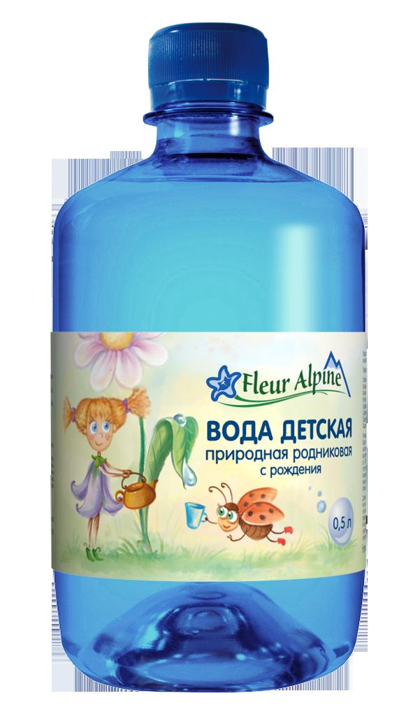 Вода детская природная родниковая Fleur Alpine 0,5