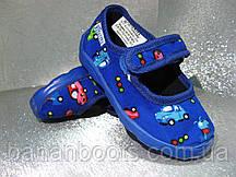Тапочки  детские синие утепленные флисом для мальчика 21р.