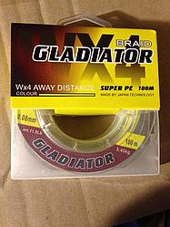 Шнур плетеный Gladiator 100m (желтый)