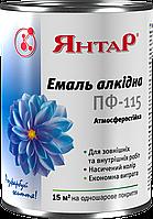 """Эмаль алкидная ПФ - 115 для дерева и металла (голубая) ТМ """"Янтарь"""""""