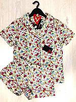 Пижама с шорты  рубашкой, фото 1