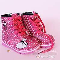 Зимние ботинки на девочку высокие на овчинке тм JG р.23