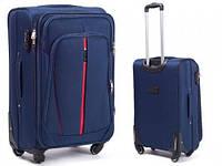 Комплект чемоданов тканевых на 4 колеса 1706 blue (3шт.) Wings