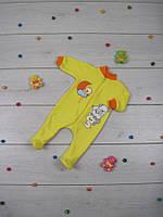 Комбинезон ясельный махровый с вышивкой 01-1469 Тимми Yellow, р.р.26-28
