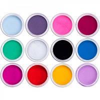 Акриловая пудра для ногтей цветная