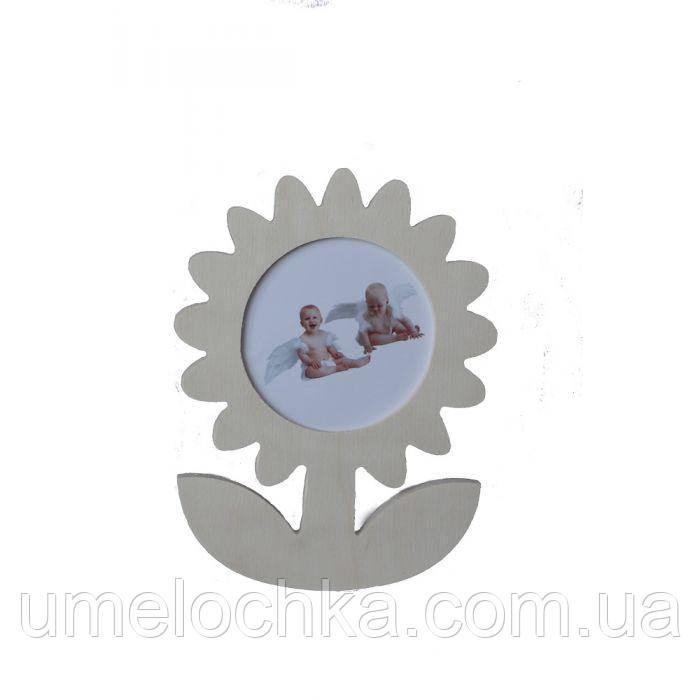 Заготовка деревянные декоративная фоторамка Цветок 17*13*0,7см, Идейка, LY1407-0631