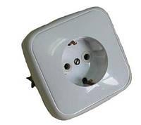 Розетка электрическая с заземлением  РС16-118