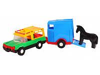 """Детская игрушка машинка WADER """"Авто-сафари с прицепом"""""""