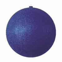 Новогодняя игрушка на елку с блестками 15см