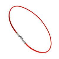 Красный кожаный шнурок Орёл с серебряной застежкой 18 000043682