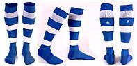 Гетры футбольные Liga Sport (р.р. 32-45, сине-белый)