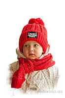 Шапка и шарф для детей Bilamila 17-206  цвет красный