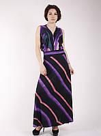 Вечернее фиолетовое платье в пол П115