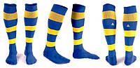 Гетры футбольные Liga Sport (р.р. 32-45, сине-желтый)