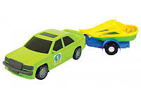 """Детская игрушка машинка WADER """"Авто-мерс с прицепом"""""""