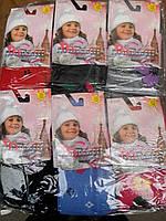 Махровые детские колготки с рисунком для девочек из хлопка