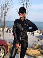 Кожаный облегающий костюм с брюками Верс ПС, фото 1