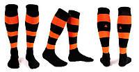 Гетры футбольные Liga Sport (р.р. 32-45, черно-оранжевый)