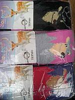 Качественные махровые детские колготки с объемным компьютерным рисунком для девочек, хлопок.