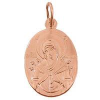 Золотая ладанка Богородица Семистрельная 000046116