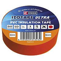 Изолента EMOS TAPE PVC 15/10 RED