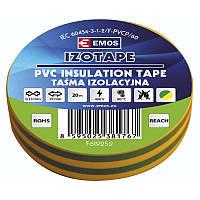 Изолента EMOS TAPE PVC 19/20 GREEN/YELLOW