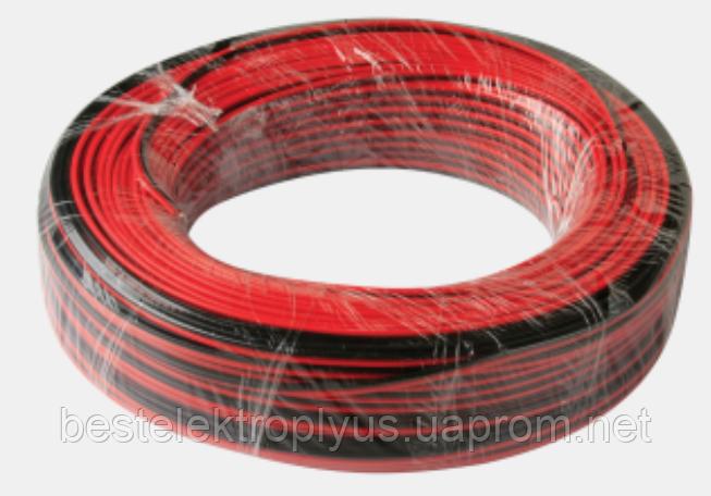 Провод питания 2х0,5 красный/чёрный
