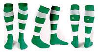 Гетры футбольные Liga Sport (р.р. 32-45, зелено-белый)