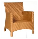 Кресло для кафе из искусственного ротанга, фото 1