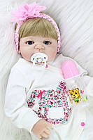 Очаровательная куколка реборн/ кукла reborn Полностю силикон, фото 1